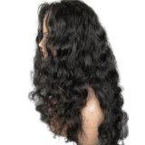 Волны части Dlme парик волос свободно естественной черной синтетический