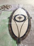 Reticolo di mosaico/bordo/medaglione Waterjet di pietra di marmo personalizzati del mosaico per le mattonelle di pavimento di pietra con il disegno della decorazione dell'intarsio del metallo