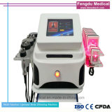 Pelle clinica che stringe corpo che dimagrisce macchina Cavitation+Tripolar RF+Lipolaser+Vacuum