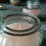Kaars van het Glas van de Luxe van de Kruik van het suikergoed de Loyale Roze met Roze Geur