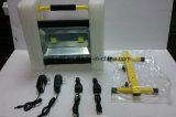 알루미늄 합금 IP65는 100W 재충전용 LED 플러드 빛을 방수 처리한다