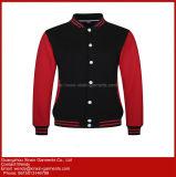 Venda por grosso de cor sólida simples homens Personalizado Pescoço Tripulação Camisolas de algodão (T221)