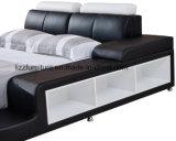 미국 현대 침실 세트 저장 가죽 2인용 침대