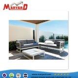 Chaud de qualité supérieure de vente de meubles de jardin en plein air en aluminium un canapé-Set