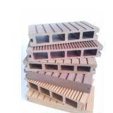 Decking composé en plastique en bois extérieur, panneau imperméable à l'eau de Decking de WPC