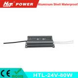 fonte de alimentação Htl do interruptor do transformador AC/DC do diodo emissor de luz de 24V 3A 80W