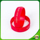 Fertigung kundenspezifisches Drucken-Firmenzeichen-Farben-Silikon-Armband