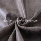 Le bronzage en daim 100 % polyester Tissu en cuir synthétique