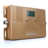 Amplificador móvil dual elegante de la señal del teléfono celular del aumentador de presión de la señal de la venda 900/2100MHz de Atnj