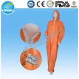 처분할 수 있는 작업복 또는 짠것이 아닌 작업복 방어 의복