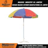 Цветастый стальной большой зонтик пляжа