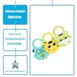 Moulage infantile personnalisé de chasuble de bébé de collier réglable de produits en caoutchouc de silicones
