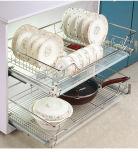 Кухня выдвиньте лоток из нержавеющей стали корзины для кухни и кухни