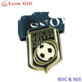 La médaille du football de sport de qualité avec conçoivent en fonction du client