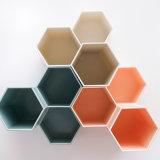 Porta Lápiz hexagonal de sobremesa de plástico simple estudiante de la caja de almacenamiento de suministros de oficina