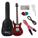 Estoque de fábrica Advnaced grossista barata guitarra eléctrica