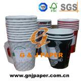 Comercio al por mayor logotipo impreso en papel de Té la taza con asa