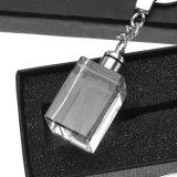 Mestieri di cristallo di vendita caldi di Keychain di marchio di cristallo del cubo su ordinazione per i ricordi di cerimonia nuziale