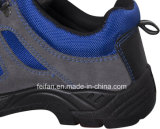 スエードの革安全靴によって混合されるスポーツの網デザイン