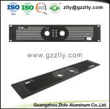Plata aluminio personalizado del panel frontal de audio/sonido de instrumentos/Shell/caja