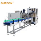 Frascos/Latas shrink wrapping automática da linha da máquina