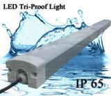 환상! 새 모델 LED 주차장 빛 IP66 LED 관 정착물 T8 세 배 증거 빛 IP66 Triproof