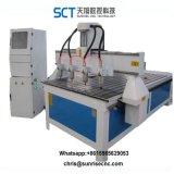 4개의 스핀들 목제 CNC 대패 또는 두 배 헤드 3D CNC 대패