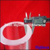 Résistance à la chaleur transparent Epaisseur de paroi de verre de silice fondue Pipe