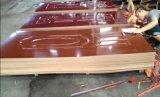 Древесина Veneered HDF литые кожи (Двери мебель из тикового дерева, ореха, красного дуба, пепла, sapeli)