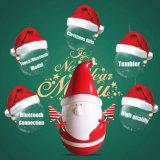 عيد ميلاد المسيح هبات برميل دوّار [سنتا] كلاوس [بورتبل] جذّابة لاسلكيّة استرفاع مغنطيسيّة [بلوتووث] المتحدث