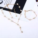Nuevo conjunto de joyas de moda mujer Colgante Collar de perlas