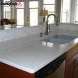 O GV aprovou a bancada branca de quartzo da neve nova das bordas de Ogee do projeto da cozinha