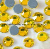 2018 Última best selling SS20 Hot Fix Citrino Rhinestone pedra preciosa de cópia de cristal de vidro (IC-SS20 notas citrinas/5um grau)