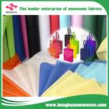 Non-Woven anti-bateriano colorido para o saco de compra da forma com PONTO