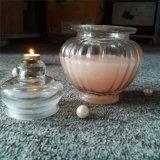 Candela di vetro dentellare leale di lusso del vaso della caramella con il profumo della Rosa