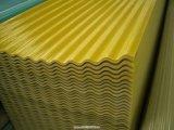 Panel de plástico reforzado con fibra de fibra de vidrio ondulado/fibra de vidrio