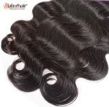 Cabelo brasileiro não processado do Virgin de 100%, extensões do cabelo humano da onda do corpo