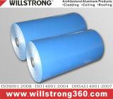 Bobine d'aluminium à revêtement de couleur pour panneau composite en aluminium