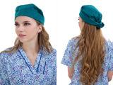Doctors&Nurses 100%를 위한 남녀 공통 외과 모자는 의학 모자를 면 Pixie 제거한다