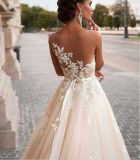2018 Ball Gown PROM Evening Laces Ivory Bridal Wedding Dresses