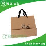 Nouvelle Mode Mesdames Shopping sac fourre-tout de papier Kraft/sac pour emporter la nourriture avec une étiquette personnalisée