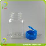 120ml de Medicina de plástico PET Botella transparente con tapa flip top