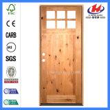 Indischer Innenraum geschnitzte hölzerne einzelne Panel-Tür (JHK-G32-5)