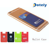 Bolsillo de la tarjeta de crédito adhesivo adhesivo de la funda de la bolsa de la caja del teléfono de la carpeta de la identificación del silicón los 3m