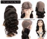 Glücks-Haar-volles Häutchen-peruanisches Jungfrau-Haar-Spitze-Perücke-Menschenhaar