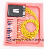 Wdm Pon 16CH CWDM van de Apparatuur van Gpon van de Telecommunicatie van de vezel Optische
