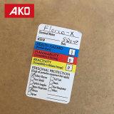 Escritura de la etiqueta de las etiquetas engomadas de Applicanes de la industria de la fábrica