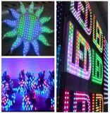 9mm/12mm CC12V 5V Digital de Color RGB LED Luz direccionable Pixel cadena cartel