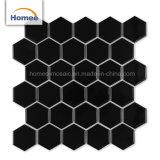 Mejor Backsplash mayorista mosaico Mosaico hexagonal negro
