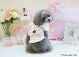 귀여운 Bowtie 개 우단 외투 애완 동물 겨울은 강아지 제품을 입는다